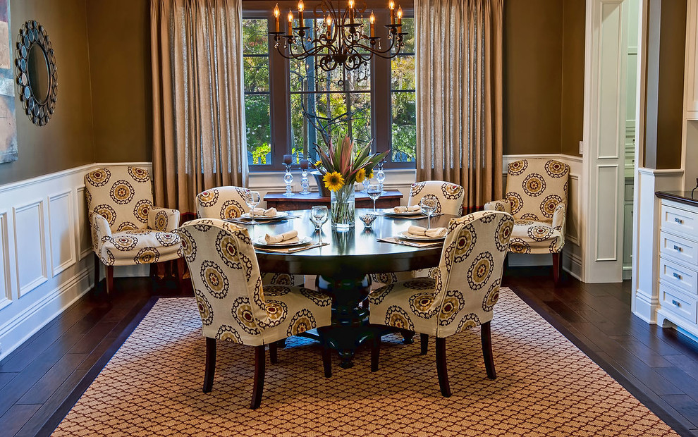 inspired-parson-chairs-in-dining-room-traditional-with-allen-roth-curtains-next-to-allen-roth-area-rug-alongside-chair-covers-anddining-room-rugs